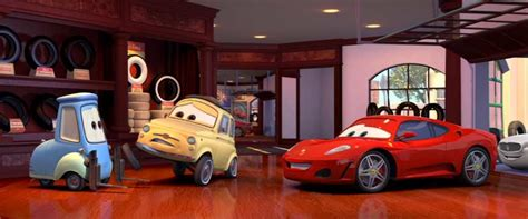 The pixar team chose other cars to reflect people they had met on the road during their research for the film. Luigi (Cars - Pixar) Luigi (Cars - Pixar) - Otakia » Tests ...
