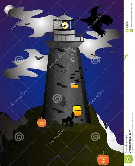 haunted lighthouse royalty  stock  image