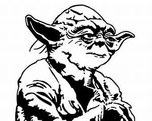 Yoda Black And White Clipart - Clipart Suggest