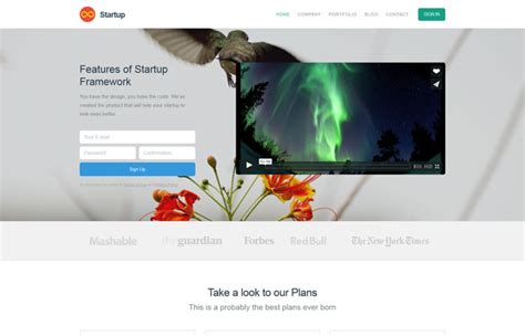 top startup template bootstrap start bootstrap free bootstrap themes and templates