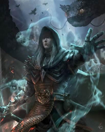 Necromancer Diablo Rathma Deviantart Fantasy Fan Artwork