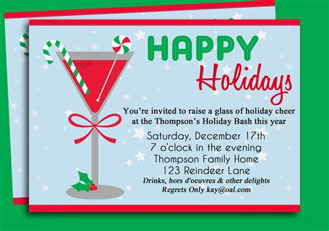 christmas party invitation ideas template best template