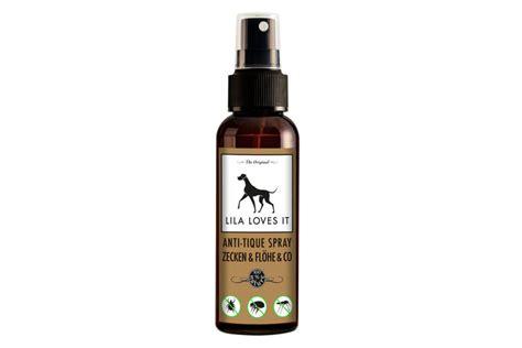 zeckenschutz flohmittel anti tique spray lila loves