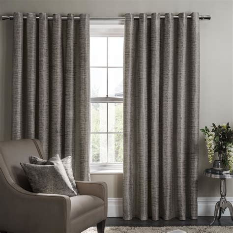 Studio G Campello Lined Ready Made Eyelet Ring Top Curtains