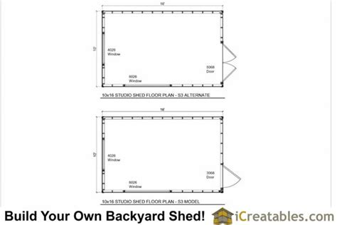 10x16 shed floor plans 10x16 studio office shed plans s3 icreatables has