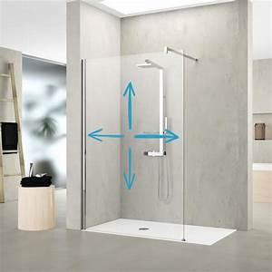 Vitre Douche Italienne : cr er une paroi de douche fixe sur mesure pour votre salle ~ Premium-room.com Idées de Décoration