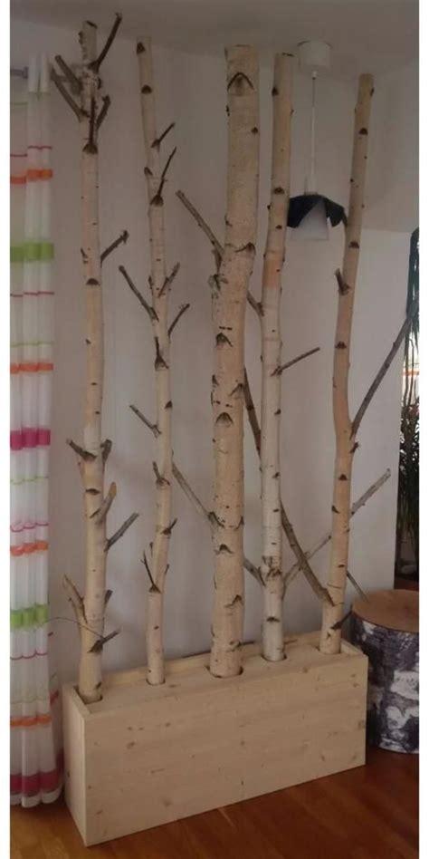 moderne deko idee wunderbar birkenstamm dekoration deko