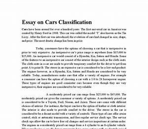 classification essay definition