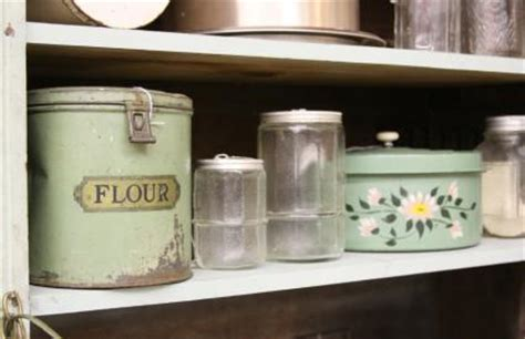 vintage kitchen storage containers vintage kitchen canisters lovetoknow 6832