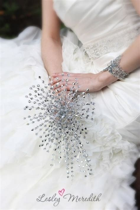 picture   sparkling wedding bouquet fully