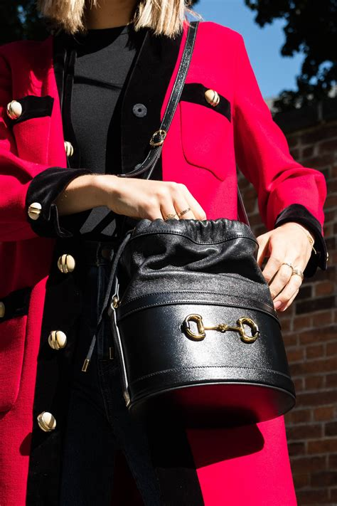 introducing  gucci  horsebit bucket bag purseblog