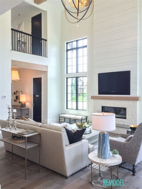 farmhouse family room remodelaholic get this look modern farmhouse living room Modern