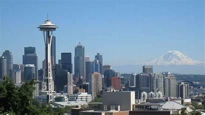 Seattle Skyline Wallpapers Washington Background Backgrounds Summer