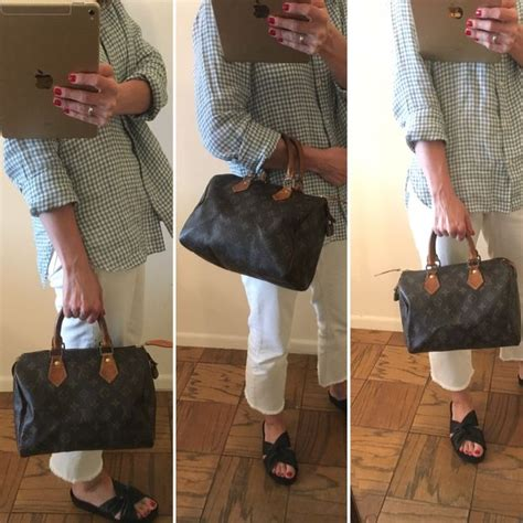 authentic  hand monogram speedy  handbag  louis vuitton styletributecom