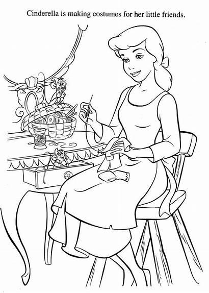 Coloring Disney Cinderella Cendrillon Colouring Coloriage Carosse