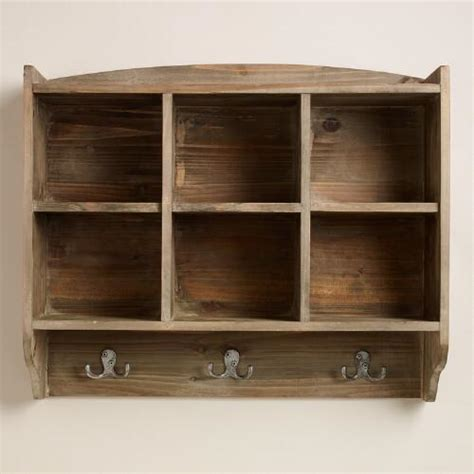 cubby shelf with hooks elliot cubby and hook wall storage world market