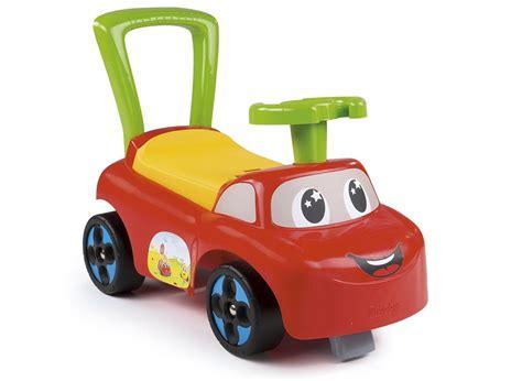porteur bébé smoby auto en forme de voiture jardideco