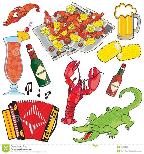 cuisine of louisiana cajun cooking clipart