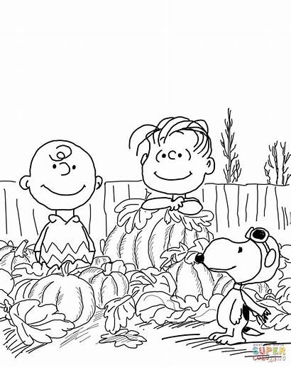 Charlie Brown Thanksgiving Clipart Coloring Clip