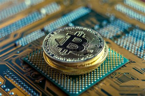 When describing how the bitcoin network functions, it is important to note that the system was created to solve a very particular set of problems around the role of trust. Coin Bitcoin On The Electronic Board. Mining Cryptocurrency. Concept Of Technologies Blockchain ...