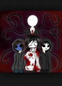Slenderman, Eyeless Jack, Jeff the Killer, Masky ...