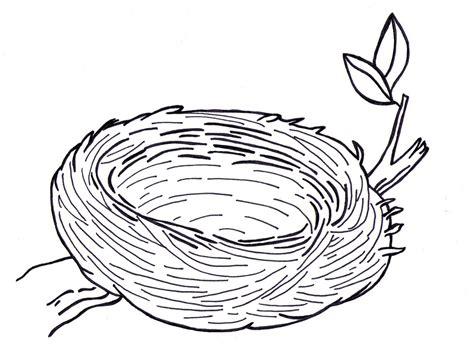 Bird's Nest Clipart Colouring