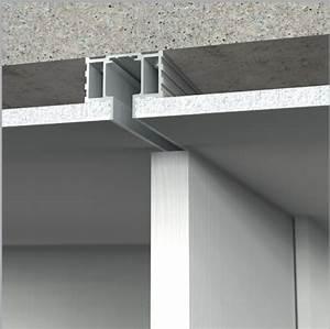 Porte Coulissante Plafond : rail invisible argent alu ~ Melissatoandfro.com Idées de Décoration