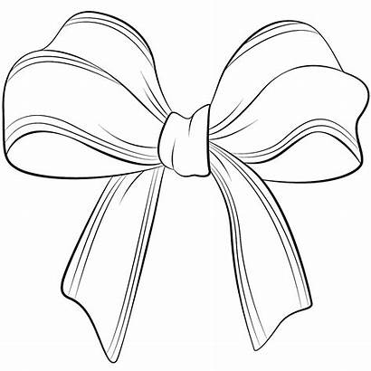 Bow Bows Coloring Pages Hair Christmas Cheer