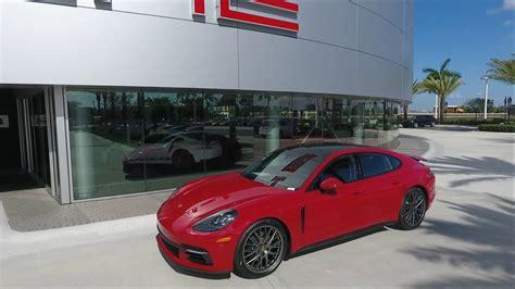 2017 Carmine Red Porsche Panamera 330 Hp @ Porsche West