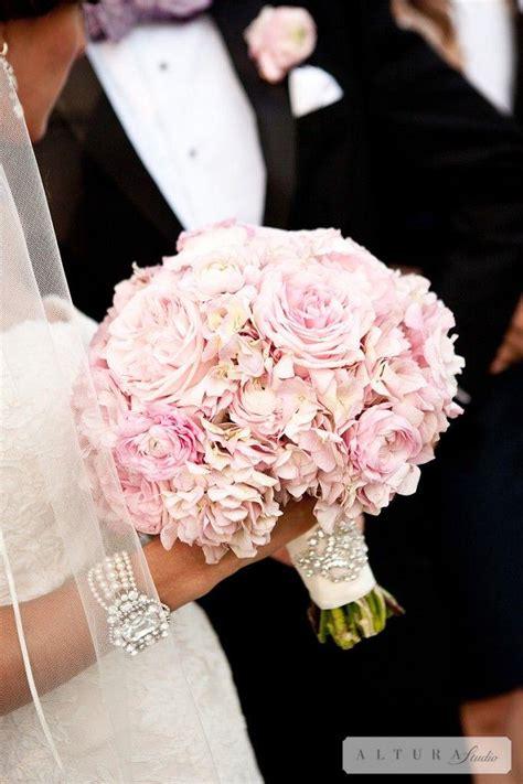 blush wedding hydrangea and peonies bouquet 2061084