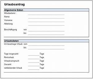 Vorlage formular fur personalstammdatenblatt for Urlaubsantrag vorlage excel