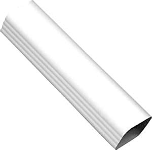 Amerimax Home Products M0593 Vinyl Downspout White Vinyl