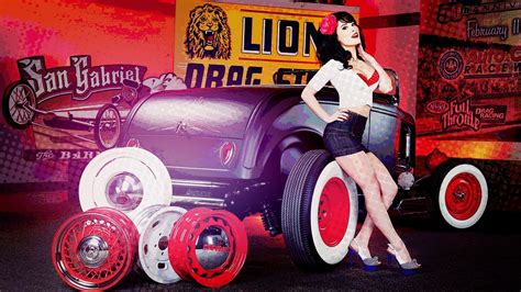 digital art vintage brunette  car women  cars