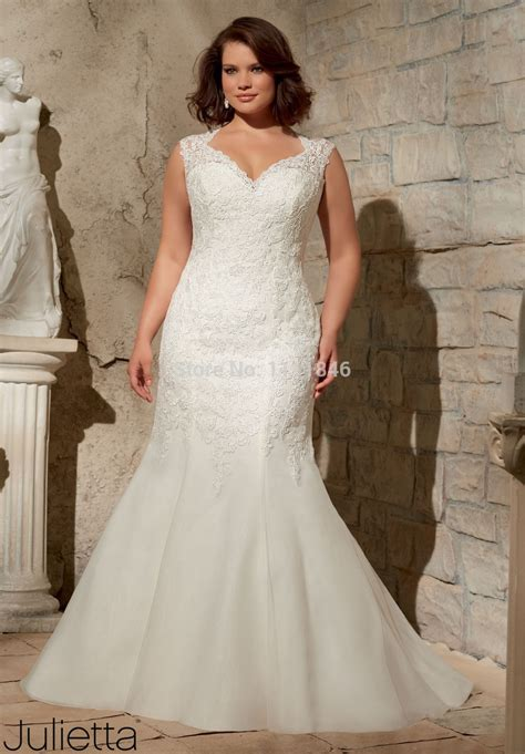 vestido de noiva  size mermaid wedding gown lace