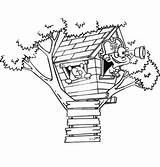 Coloring Treehouse Boomhutten Tree Pages Fun Drawing Pirate Kleurplaten Playing Boy Kleurplaat Van Zo sketch template
