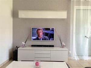 Fixer Une Télé Au Mur : installer sa tv au mur conseils astuces et photos ~ Premium-room.com Idées de Décoration