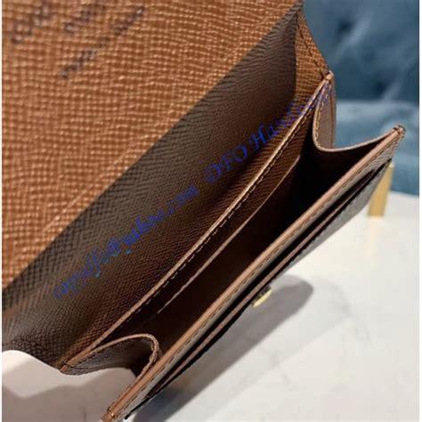 louis vuitton monogram canvas enveloppe carte de visite  brown luxtime dfo handbags