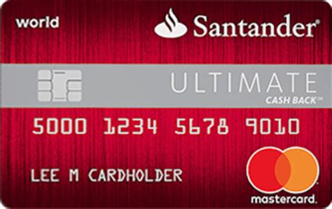 santander ultimate cash  credit card