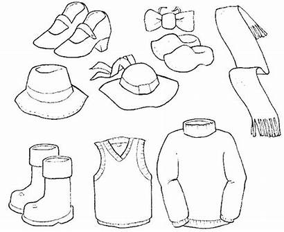 Coloring Clothes Pages Winter Summer Sheets Printable