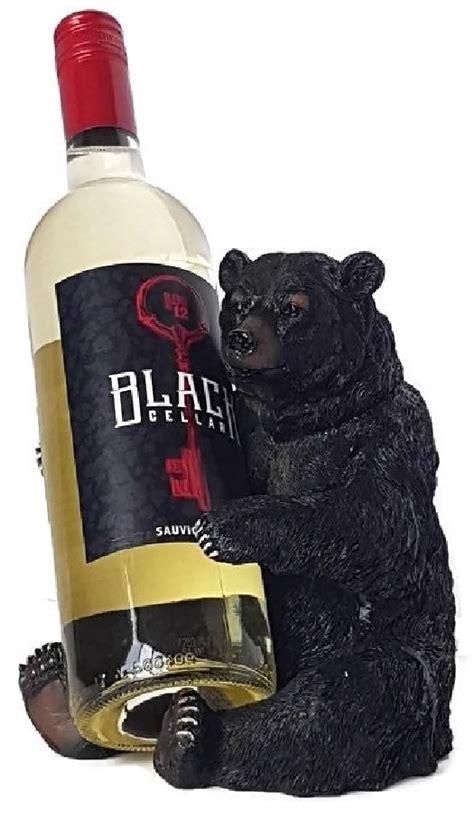 black bear wine bottle holder christmas gift home