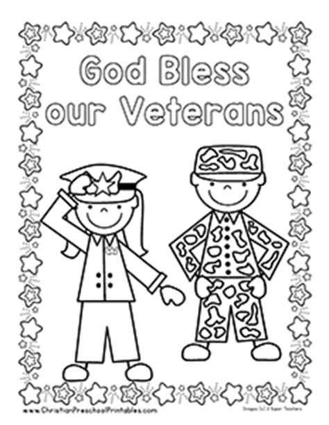 veterans day coloring page veteran s day bible printables christian preschool