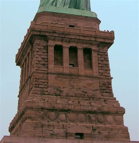 statue of liberty pedestal file pedestal of statue of liberty png