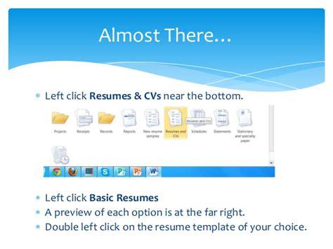 creating a resume using microsoft word 2010