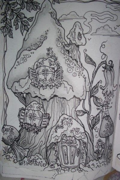 faerie house friends challenge house colouring pages