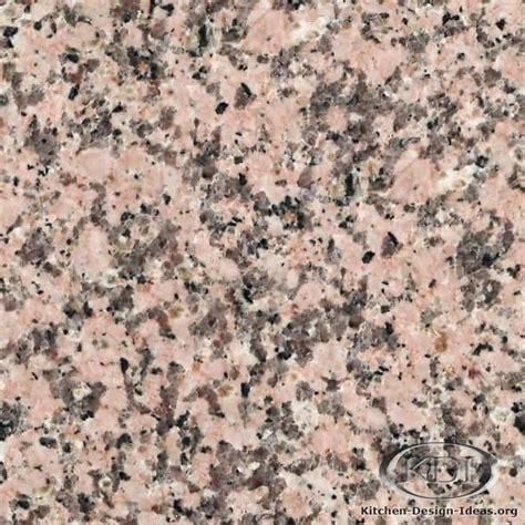 kitchen countertop ideas salmon pink granite countertops