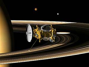 Titan orbiter Saturn orbit insertion in stereo 3D