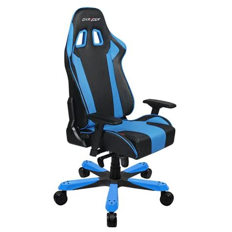 dxracer king series pc office gaming chair black blue