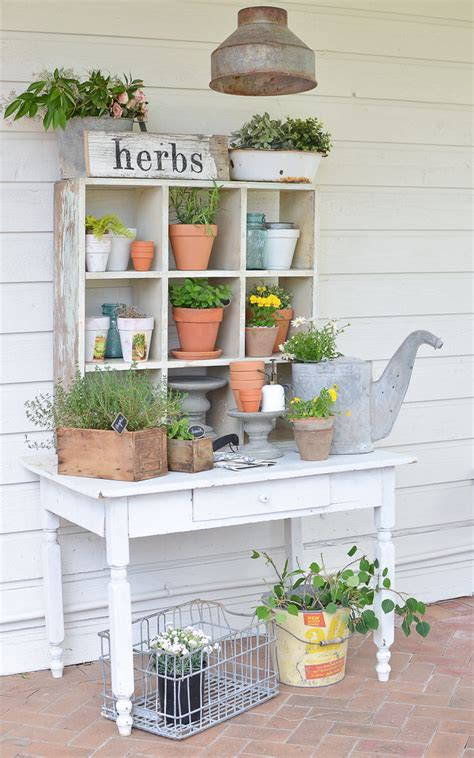 diy potting benches youll   show