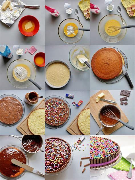 tuto quot gâteau d 39 anniversaire coloré aux bonbons quot aud 39 à