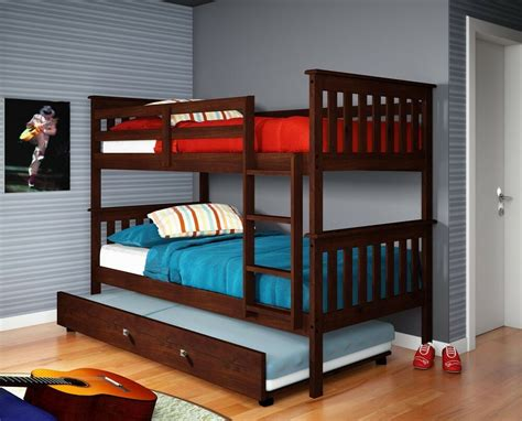 Bunk Beds With Trundle And Storage by Bunk Bed W Trundle Or Tent Cappuccino Ebay